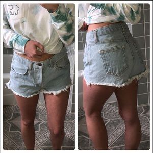John Galt high waist denim shorts